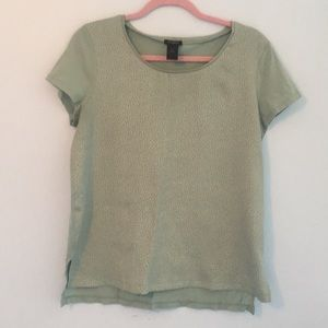 Mint Green Jacquard front top